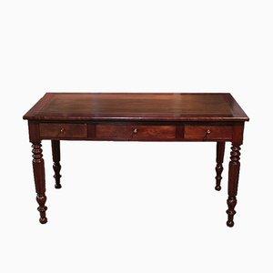Antiker Louis Philippe Schreibtisch aus Mahagonifurnier