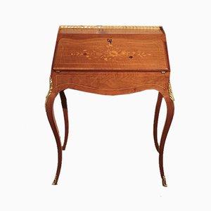 Louis XV Schreibtisch aus Nussholz & Bronze, 19. Jh.
