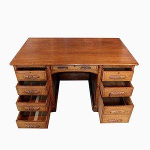 Vintage Oak Cabinet Desk