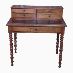 Antiker Schreibtisch aus Kirsch- & Birkenholz