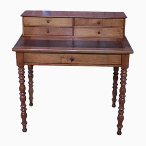 Antique Cherry Wood and Birch Desk