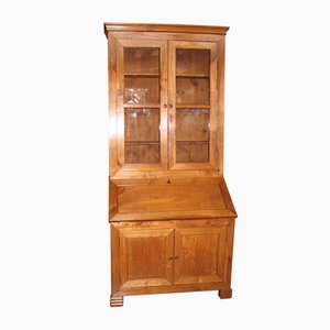 Antique Birch Desk Cabinet