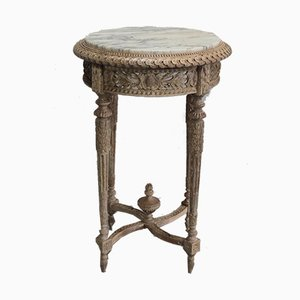 Vintage Louis XVI Style Oak Side Table
