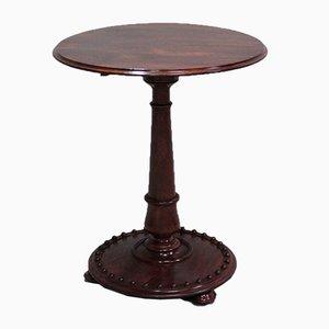 Antique English Pedestal Side Table