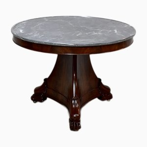 Antique Mahogany and Burl Mahogany Veneer Side Table