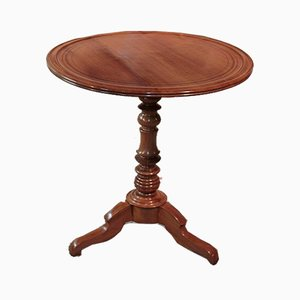 Antique Louis Philippe Blond Cherry Wood Side Table