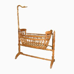Antique Ash Baby Crib