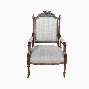 Vintage Louis XVI Style Walnut Armchair