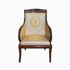 19th Century Restoration Mahogany Armchair
