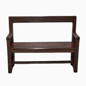 Antique Rustic Oak Bench