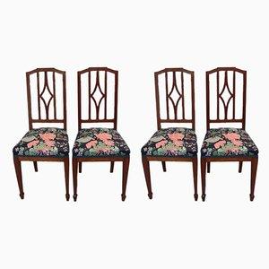 Chaises de Salle à Manger Vintage en Acajou, Set de 4