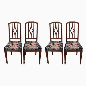Vintage Mahogany Dining Chairs, Set of 4