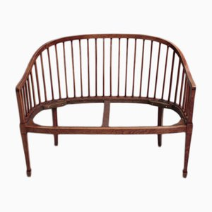 Art Deco Beech Bench