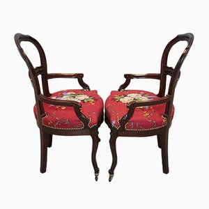 Antique Mahogany Dining Chairs, Set of 2