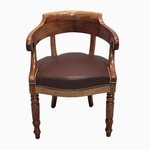 Antique Cherry Wood Armchair
