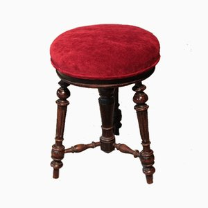 Antique Rosewood Piano Stool