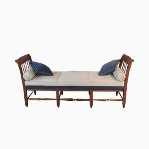 Sofá cama estilo directorio de haya, siglo XVIII