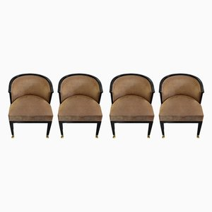 Vintage Beech Armchairs, Set of 4