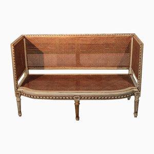 Antikes Sofa aus Schilfrohrgeflecht