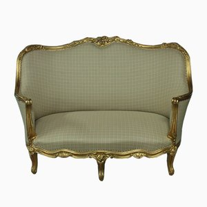 19th Century Louis XV Style Gilded Sofa