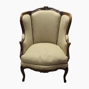 Antique Beech Veneered Walnut Armchair
