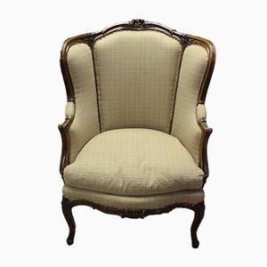 Antique Beech Veneered Walnut Armchair