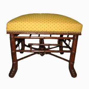 Ottomane Vintage en Bambou