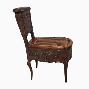 Antique Walnut Bidet Chair