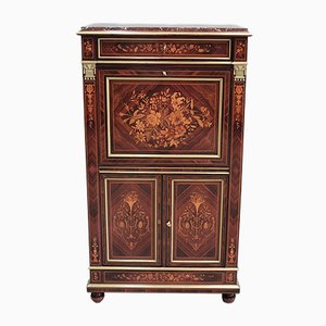 Antique Napoleon III Violet and Rosewood Secretaire