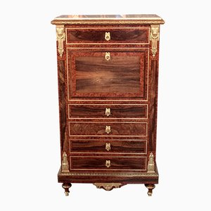 19th Century Louis XVI Style Cedar and Marble Secretaire