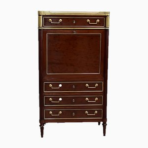 Small Antique Cuban Mahogany and Mahogany Veneer Secretaire