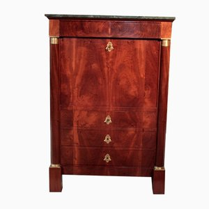 19th Century Empire Mahogany Secretaire