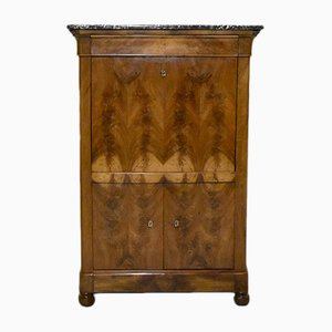 Antique Burl Walnut Veneer Secretaire