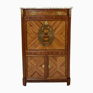 Antique Rosewood and Mahogany Marquetry Secretaire