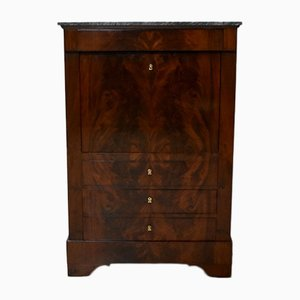 Antique Burl Mahogany Secretaire