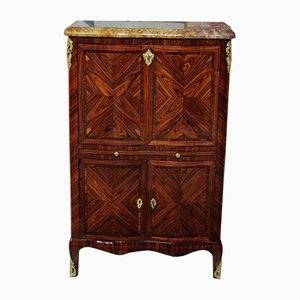 Antique Louis XV Style Rosewood and Amaranth Secretaire