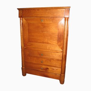 Antique Birch and Cherry Secretaire