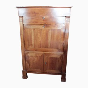 Large Antique Birch Secretaire