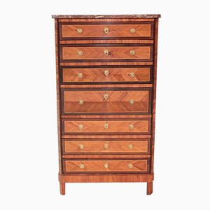 18th Century Louis XVI Rosewood, Amaranth, and Marble Secretaire