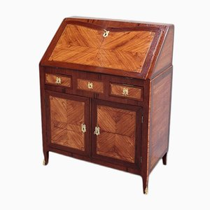 Antique Rosewood and Amaranth Marquetry Secretaire