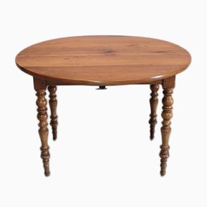 Antique Birch and Cherry Extendable Dining Table