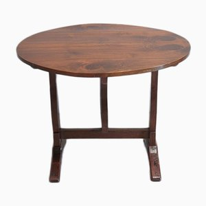 Small Antique Walnut Winemakers Table
