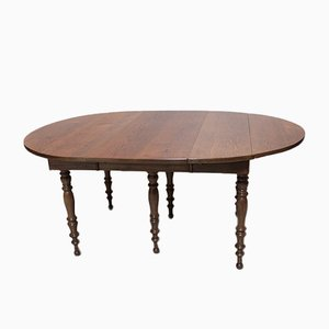 Antique Louis Philippe Oak Dining Table
