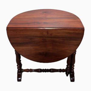 Antique Oval Gate-Leg Mahogany Extendable Dining Table