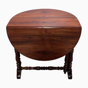 Mesa de comedor extensible antigua ovalada de caoba
