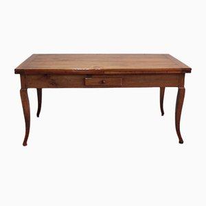 Mesa de comedor extensible antigua de madera de cerezo