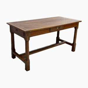 Antique Rectangular Walnut Dining Table
