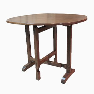 Small Antique Oak Winemakers Table