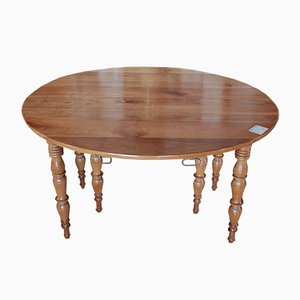 19th Century Louis Philippe Cherry Wood Dining Table