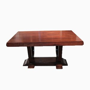 Vintage Art Deco Rosewood Veneer Dining Table